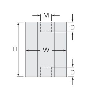 Termate Low Smoke Standoff Insulators- LSH Female/Female Diagram, labelled with letters to represent specific dimensions in the table below.