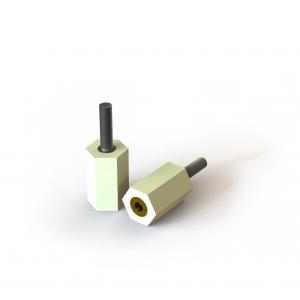 Digital rendering of Termate female/male pillar standoff insulators