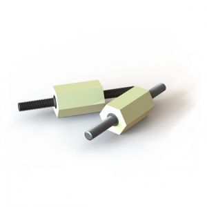 Digital rendering of Termate male/male pillar standoff insulators