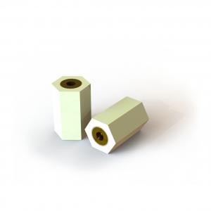 Digital rendering of Termate female/female pillar standoff insulators